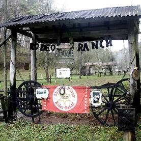 So sah eist der Eingang zur Rodeo-Ranch aus.
