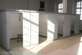 Der Schlafsaal der Mönche.