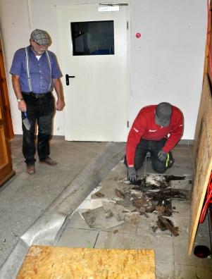 Die Sanierung und teilweise Erneuerung der Böden war eine der aufwändigsten Arbeiten.