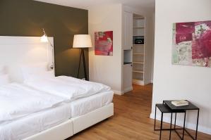 Doppelzimmer im Gästehaus.