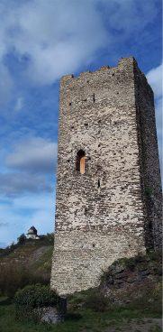 Der Burgfried der Niederburg von Kobern-Gondorf (Ortsteil Kobern).