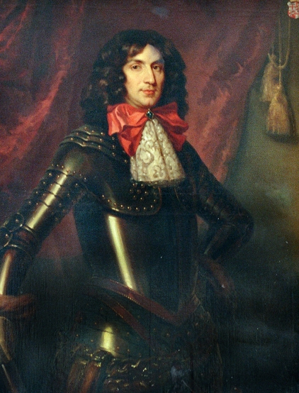 Bertram von Beissel-Gymnich in der Ahnengalerie von Schloss Frens. Foto: Reinhold Wylecalek/Repro: Arbeitskreis Kultur und Geschichte Dahlem