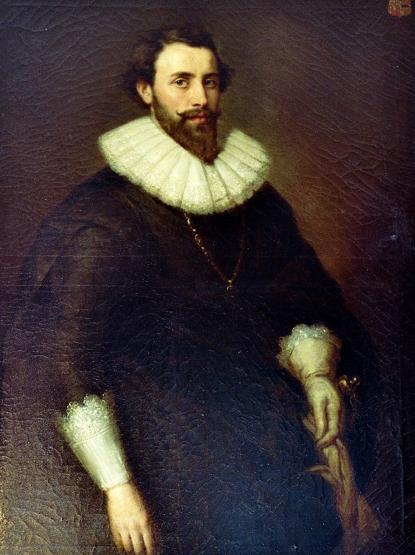 Reinhard d. J. von Beissel-Gymnich d. J. in der Ahnengalerie von Schloss Frens. Foto: Reinhold Wylecalek/Repro: Arbeitskreis Kultur und Geschichte Dahlem