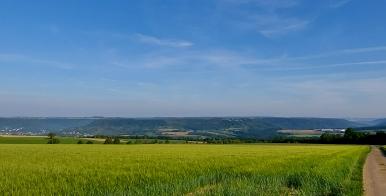 Blick auf das Ferschweiler Plateau oberhalb von Echternach auf deutscher Seite.