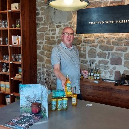 """Hat mit seinem Apfelweinspezialitäten schon mehrfach Preise gewonnen: Paul Jeitz, """"Cider Ambassador""""."""