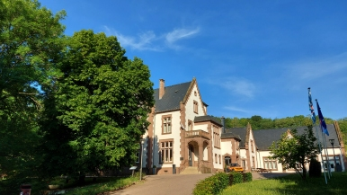 Das Schloss Tudor in Rosport.