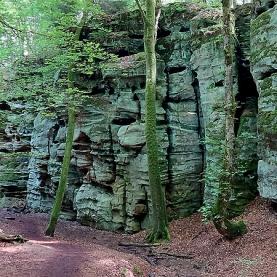"Auf dem ""Teufelspfad"": Im Felsenkessel."