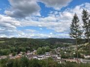 Blick auf Blumenthal vom Kirchenberg.