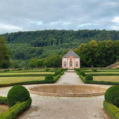 Der barocke Schlossgarten, Beginn der Tour.