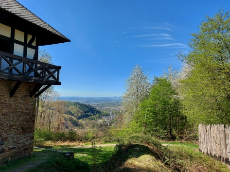 Limesturm 2: oberhalb von Sayn (Bild: Frühjahr 2020).