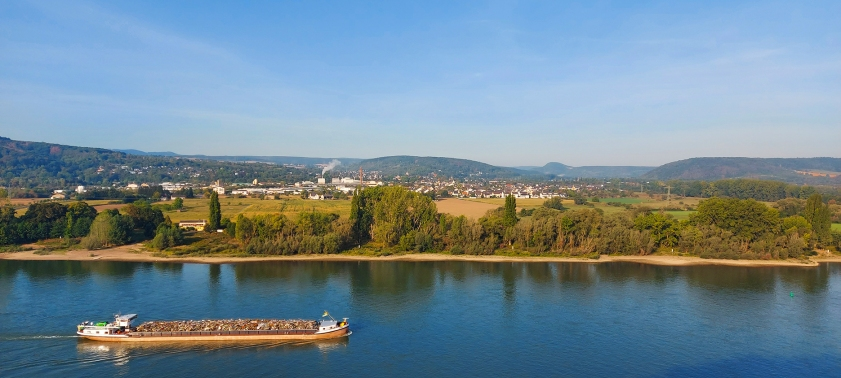 Blick auf Borhl oberhalb der Ahrmündung.