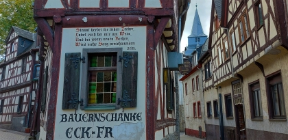Spitzgiebelhäuschen in der Altstadt von Braubach.