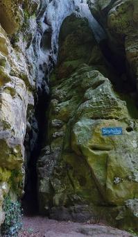 """Zugang zur """"Drachelay"""", Extra Tour C des Mullerthal Trails, Kleine Luxemburger Schweiz."""