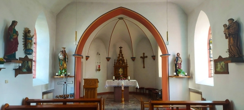 Der Innenraum von St. Margareta.