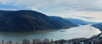 Der Rheinbogen bei Bacharach.