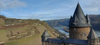 """Am """"Victor Hugo Fenster"""" oberhalb der Burg Stahleck,."""