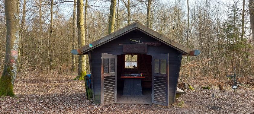 Die Hütte am Brotpfad.